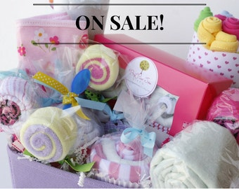 DECADENT New Baby Gift Basket, Baby Shower Gift Basket