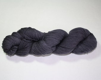 Charcoal Grey Kettle Dyed Sock Yarn