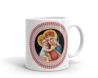 Our Lady of Good Remedy Ceramic Mug - catholic gift idea - catholic gifts - Virgin Mary art - Virgin Mary icon