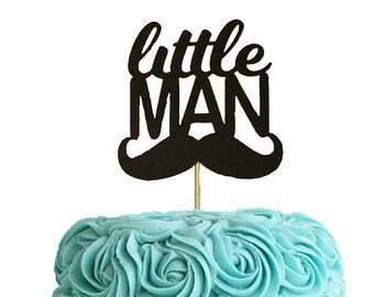 Baby Shower Cake Topper, Baby Boy Cake Topper, Little Man Cake Topper, Baby Cake Topper,  Baby Shower Cake Topper