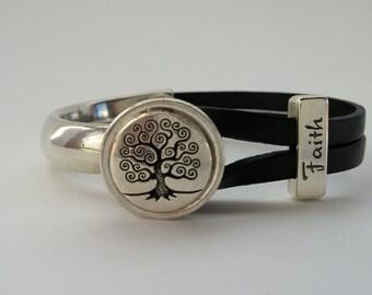 Faith and Tree of Life Bracelet