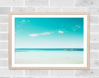 beach art nautical decor ocean print tropical wall art ocean minimalist art beach photography ocean waves nursery decor blue aqua