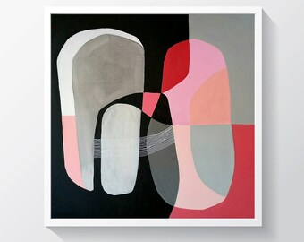 """Original acrylic painting on gallery canvas.Geometric painting. Ready to hang. 15"""" x 15"""""""
