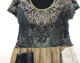 Artsy Upcycled Top / Dress XL