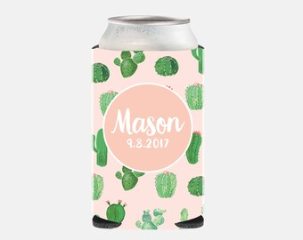 Cactus Wedding Favors for Guests Pink Wedding Favors Cactus Can Cooler Pink Bachelorette Party Favors Pink Bridesmaid Gift Ideas