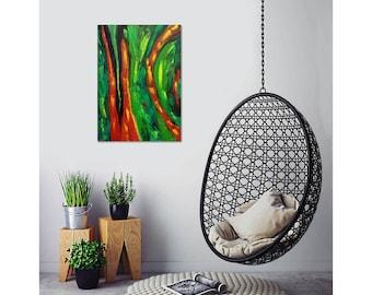 Original Abstract Painting. Abstract Art. Green Abstract. Abstraction. Oil Painting. Painting. Wall art. Paintings on Canvas. Original Art.