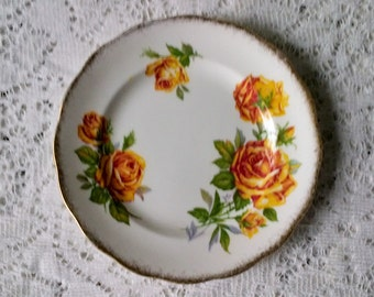 Royal Standard Romany Rose Fine Bone China Small Side Dessert Plate - 6 inch - Made in England