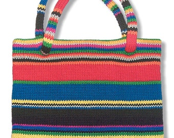 Striped Tote to Knit PDF Pattern Instant Download