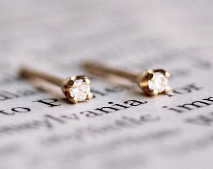 Featured listing image: 14K Tiny Diamond Studs