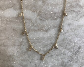 Drops of Jupiter choker, 24k gold Choker, Choker, Gold choker, gold fill, gold jewelry, gold necklace, boho, bohemian,cubic zirconia,crystal