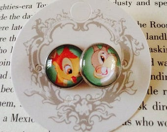 Bambi and Thumper 14mm Stud Earrings