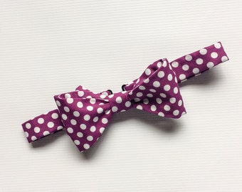 Purple Bow Tie, Purple Polka Dot Bow Tie, Mens Bow Ties, Mix and Match Bow Ties, Purple Bow Ties, Groomsmen Bow Ties, Wedding Ties