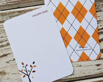 Personalized Note Cards - Set of 8 - Amber Notes