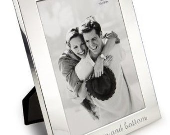 Personalised Shiny Finish Silver Photo Frame