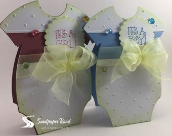 Birth Announcement - Onesie card baby announcement