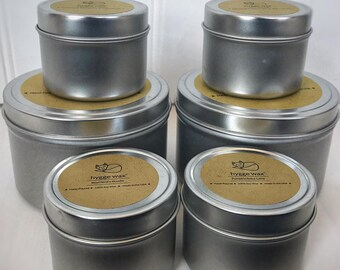 Wedding Favors | Personalized Candles |  | Wedding Shower Favors | 12 pieces | 2 oz tins | 100% Soy Wax | Customizable Labels