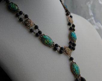 Cordelia Renaissance Necklace, Medieval Necklace, Victorian Necklace, Elizabethan Necklace, Tudors Necklace for Faire Wedding SCA Dress Gown
