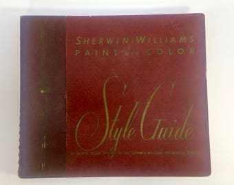 1951 Sherwin Williams Paint & Color Style Guide Salesman Sample Catalog