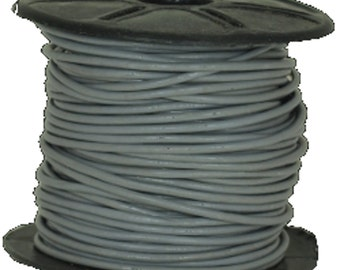1.8 mm  Gray Leather Cord 25 Meter spool