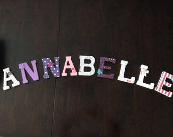 Wood Letters For Nursery Annabelle