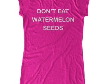 Don't Eat Watermelon Seeds Maternity T-Shirt Maternity Clothing Top Pregnancy Pregnant Funny Maternity Shirt BumpCovers Cotton Bamboo TShirt