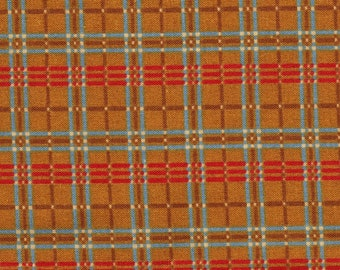 Little Quilts for Henry Glass Madder Orange and Red Plaid OOP