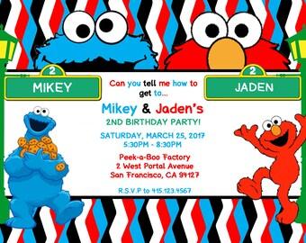 Sesame Street Invitation (DIGITAL FILE)