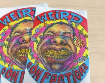 Weird Confections Sticker Pack of 3