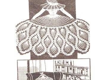 Crinoline Lady, Chair Back Set, PDF Crochet Pattern
