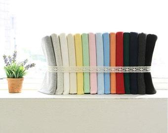 "Ribbing & Binding Cotton Rib Knit - 7.5"" Long - Choose From 15 Colors 65028 - GJ"