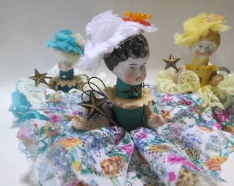 "Assemblage Angel ""Springtime""  Assemblage Art Doll, Antique Doll Parts, Vintage Style Art Doll"