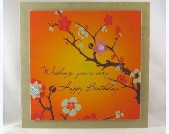 Wishing you a very Happy Birthday-Cherry Blossoms