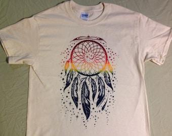 Men's Dreamcatcher shirt on Natural