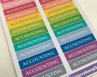 A63 - Accounting - Planner Stickers