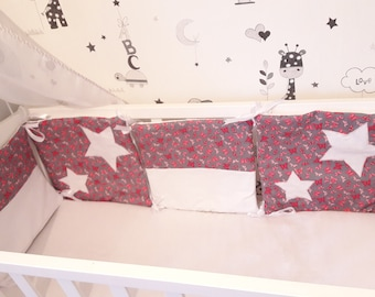 Bumper Butterfly Star Pink, gray, 4 cushions