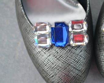 Blue Shoe Clips