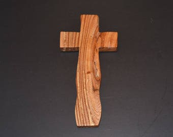Unique Wooden Cross; Huisache Acacia Wood; Wood Wall Cross; Cross Wall Decor; Crooked Cross; Free Ground Shipping USA; cc20-2063017