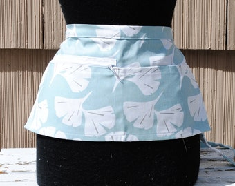 Vendor Apron Server Apron Light Blue White Farmers Market Apron