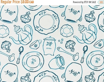10% OFF - Blue China - IKEA Pirjo Cotton Fabric