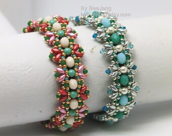 PDF Tutorial - Elanor Bracelet Beading Pattern Instant download Beadweaving Instruction