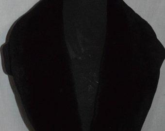 Real  Beaver fur Collar Sheared Plucked Black Women Men detachable new  made in usa