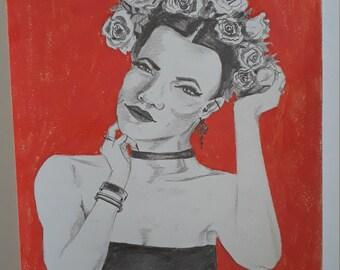 ORIGINAL Graphite Portrait/pencil drawing