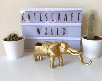 Gold elephant planter gold elephant succulent planter elephant succulent planter metallic gold colour