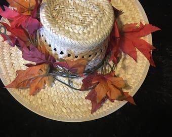 Fall leaf hat medium large