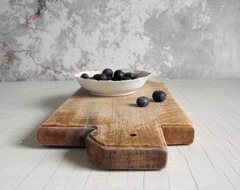 Vintage Cutting Board , Wood Chopping Board , Wooden Butchers Block , Farmhouse Kitchen Cutting Board