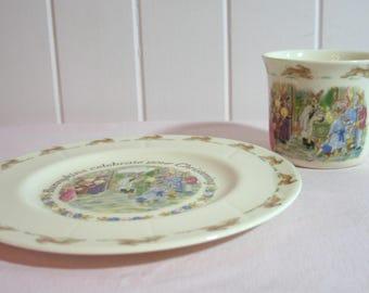 Royal Doulton Bunnykins Christening Dish Set - Fine Bone China