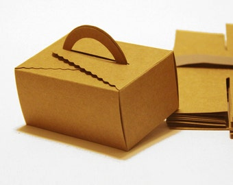Set of 20, Kraft Gift Box, Cake Box,  Favor, Gift, Party