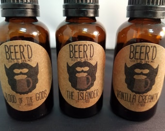 Strong or Sweet 30mL (1oz) Trio Set -  Beer-Infused Beard Oil