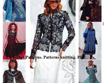 Crochet Patterns. Patterns knitting. E-book. Instant Download PDF. Journal Mod #604
