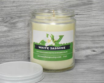 White Jasmine Soy Candle - Floral Soy Candle